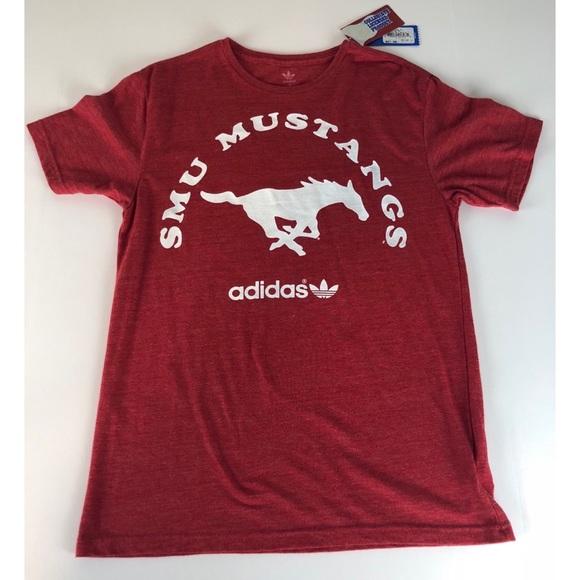 9d8383034 adidas Shirts   Smu Mustangs Red Ss Tshirt Mens M Nwt   Poshmark